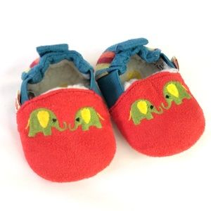 Acorn Toddler's Easy-On Animal Slippers 0-6 months